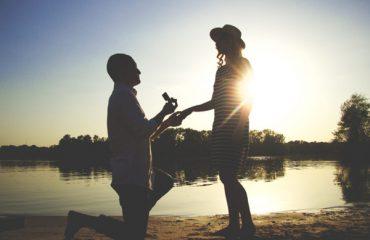 Evlenme teklifi çekimi